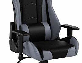 31eMVppiyAL 269x205 - Racing Hochwertiger Bürostuhl Gaming Stuhl, Ergonomischer höhenverstellbar Schreibtischstuhl Chefsessel Computerstuhl Drehstuhl mit einstellbaren Armlehnen, Kunstleder PU Sportsitz Game Chair (Grau)