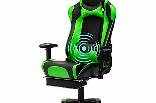 41e4JtJZcfL 500x330 - EVANCEL Gaming Stuhl in E-Sports Racing Style Massage Teillenkissen Computerstuhl Ergonomisches Design schwenkbarer mit Verstellbaren Armlehnen und Fußstütze, Wippfunktion mit PU Leder (Grün)
