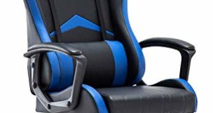 41jN3CdYKkL 310x165 - IntimaTe WM Heart Gaming Stuhl, Bürostuhl mit verstellbarem Kopfkissen und Lendenkissen, Ergonomischer Schreibtischstuhl, Racingstuhl Mir hoher Rückenlehne (Blau)