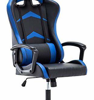 41jN3CdYKkL 311x330 - IntimaTe WM Heart Gaming Stuhl, Bürostuhl mit verstellbarem Kopfkissen und Lendenkissen, Ergonomischer Schreibtischstuhl, Racingstuhl Mir hoher Rückenlehne (Blau)