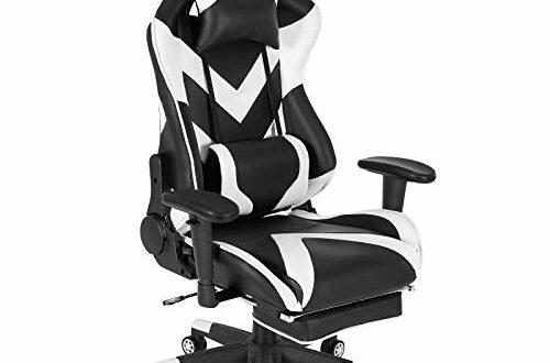 41mzlSY+vSL 500x330 - WOLTU® Racing Stuhl BS20ws Gaming Stuhl Bürostuhl Schreibtischstuhl Sportsitz mit Kopfstütze und Lendenkissen, Armlehne verstellbar, mit Fußstütze, Kunstleder, höhenverstellbar, Weiß