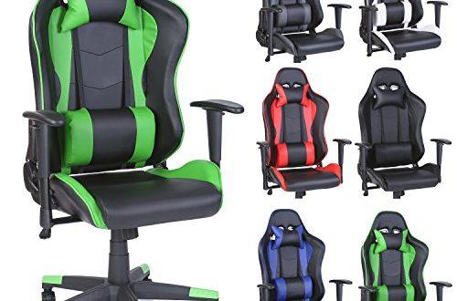 51lDCkgjjPL 500x330 - TRESKO Racing Drehstuhl Bürostuhl Sportsitz Chefsessel Gaming Stuhl 6 Farbvarianten, Wippmechanik, stufenlos verstellbare Rückenlehne (Hellgrün)