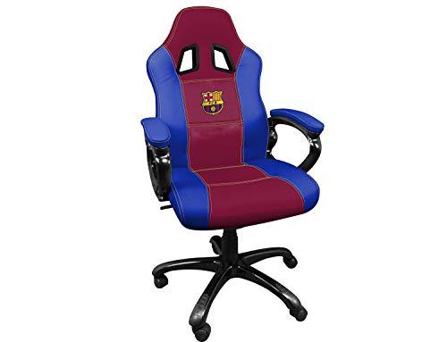 Subsonic SA5496-12 Gaming Schalensitz - Gamer Stuhl mit ergonomischem Sitz - Drehbarer Büro- und Spielstuhl Fc Barcelona